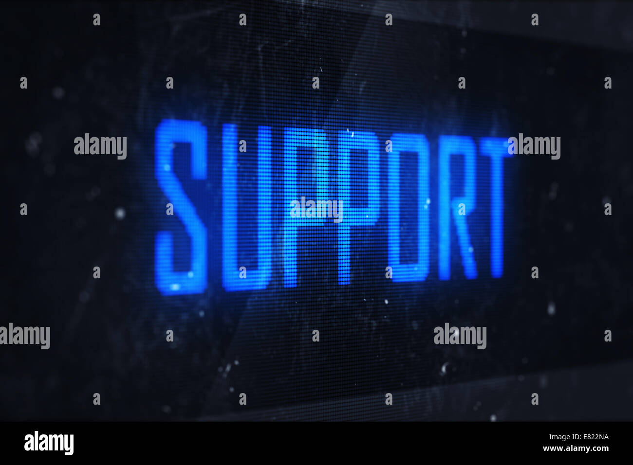 SUPPORT concept. Business, technology, internet and networking concept - SUPPORT text on virtual screens - Stock Image