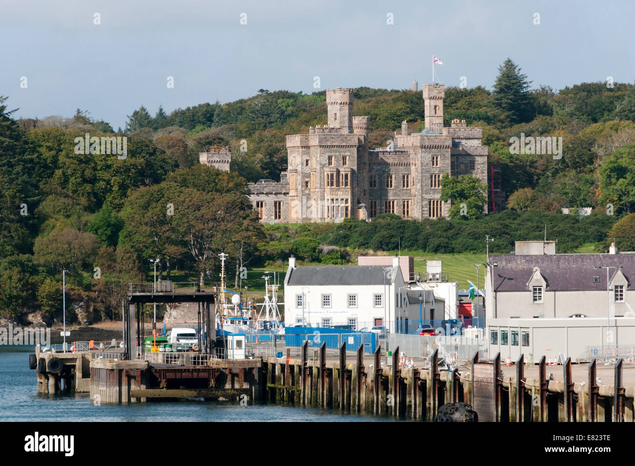 Castle Lews in Stornoway on the Isle of Lewis, Outer Hebrides. - Stock Image