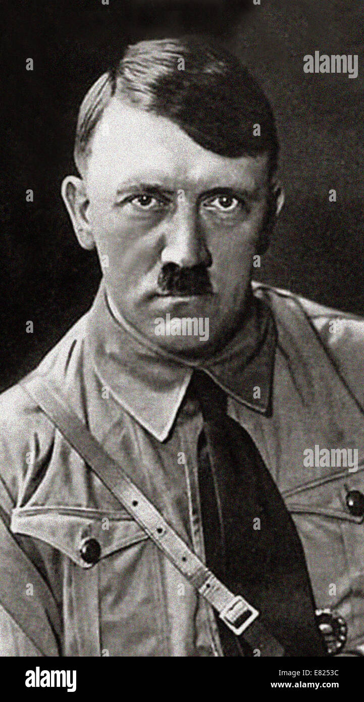 Adolf Hitler - wartime image of the German Leader -. Adolf Hitler was an Austrian-born German politician and the - Stock Image