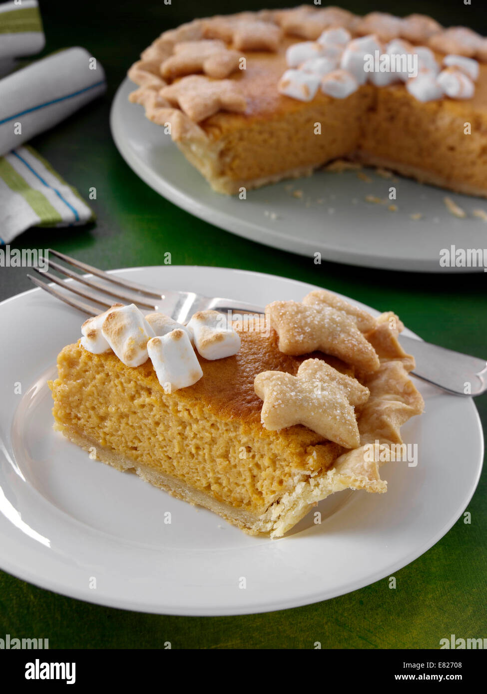 Old fashioned sweet potato pie traditional American dessert