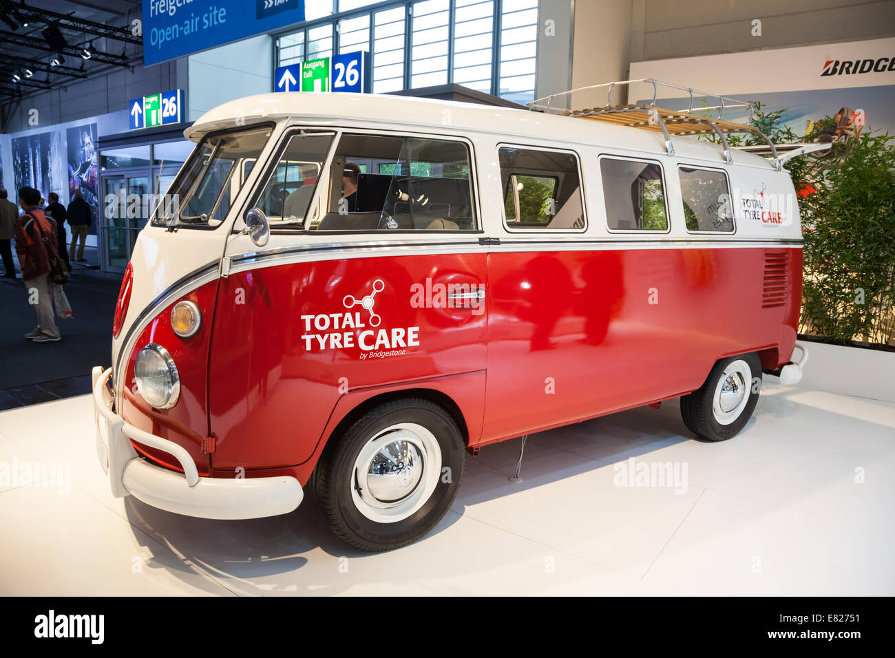 Historic VW T1 Van at the 65th IAA Commercial Vehicles fair 2014 in Hannover, Germany - Stock Image