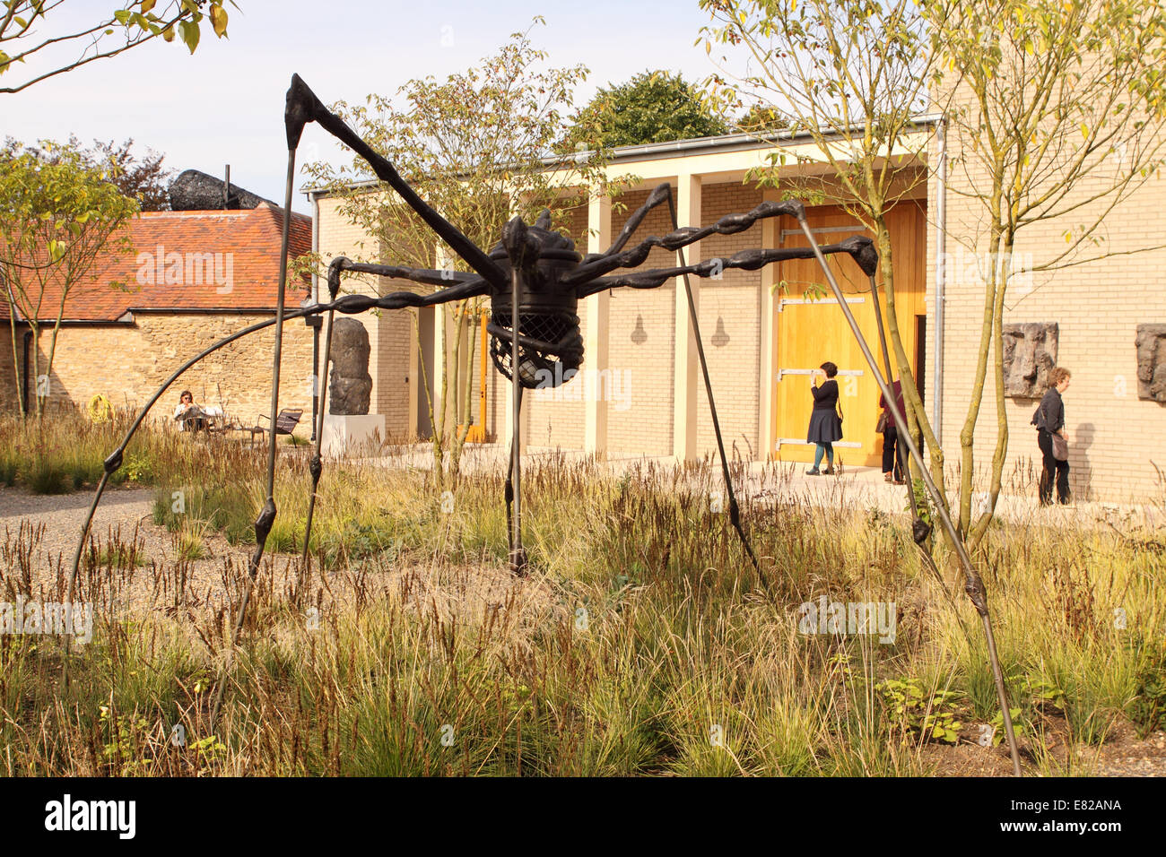 Bruton Somerset the new Hauser & Wirth art gallery includes Maman a