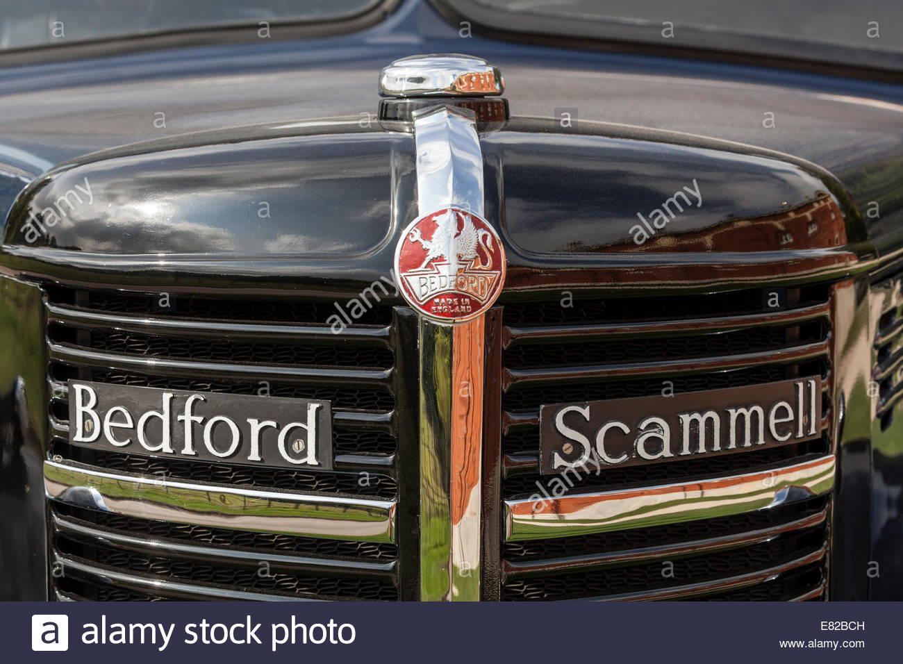 Front of a Bedford Scammell Truck - Stock Image