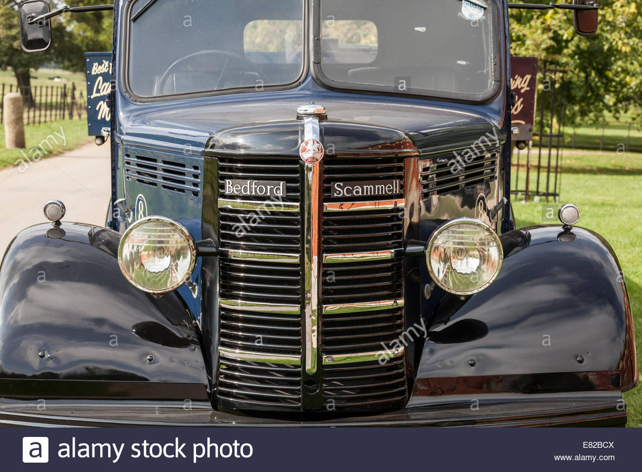 Front of a Bedford Scammell Truck Stock Photo