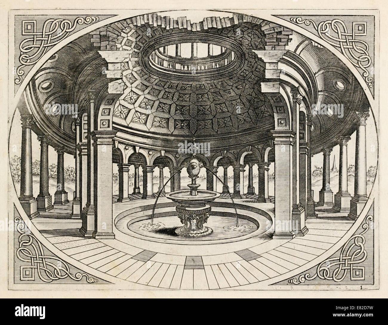 Hans Vredeman de Vries (1527 1607) Dutch Renaissance architect  illustration. See description for more information.
