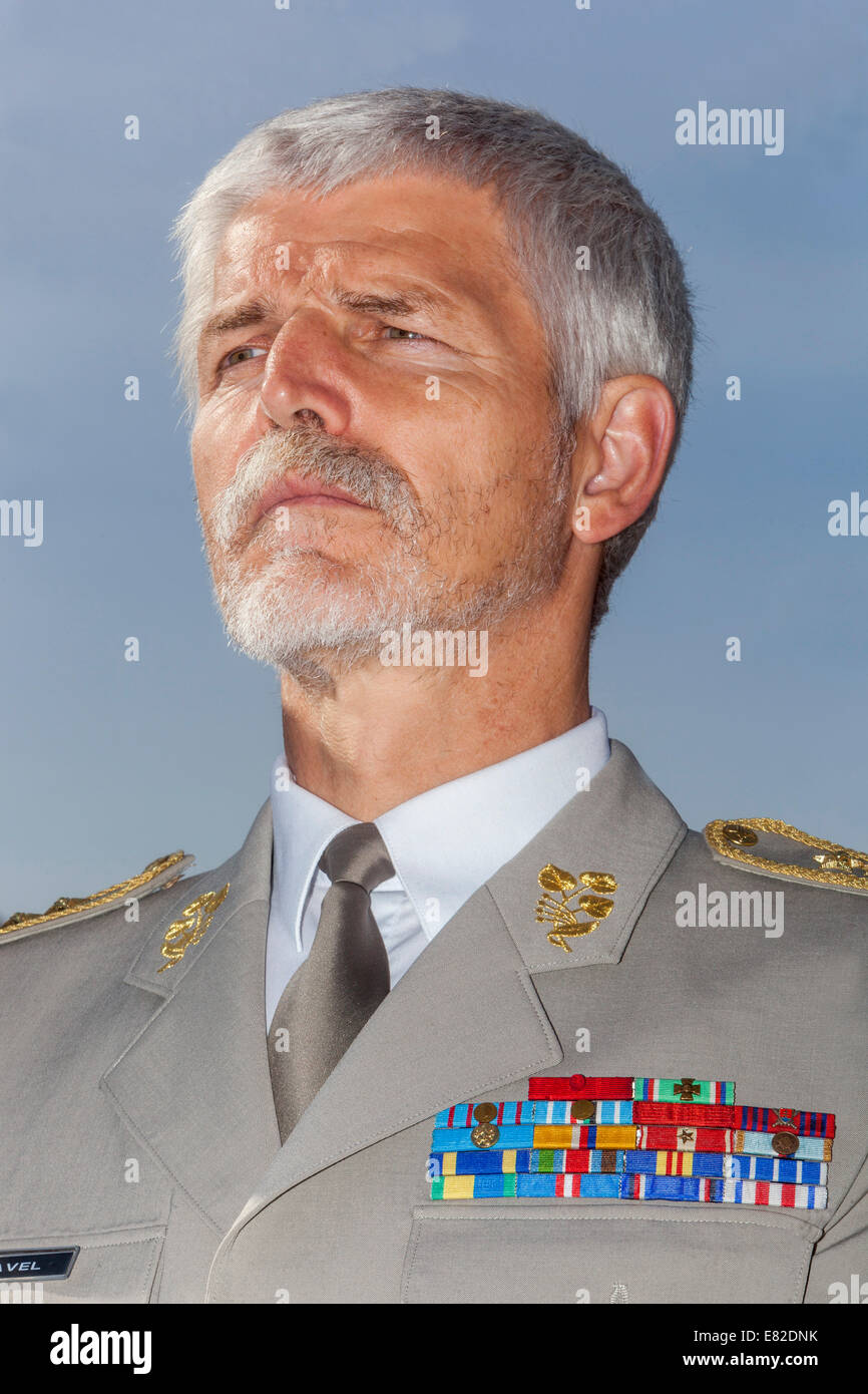 General Petr Pavel, Chairman of the NATO Military Committee, - Stock Image