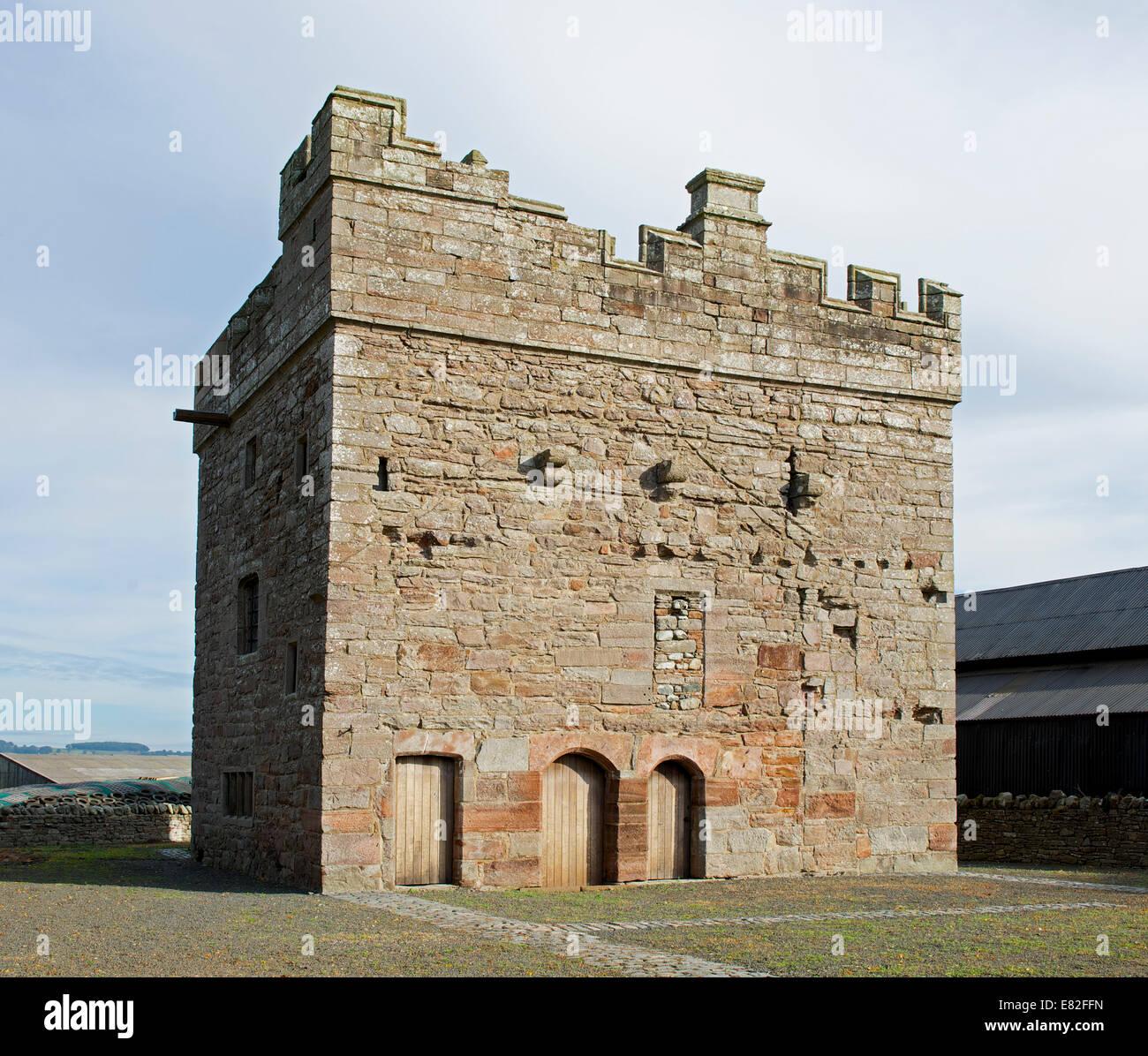The pele tower of Clifton Hall, Cumbria, England UK - Stock Image