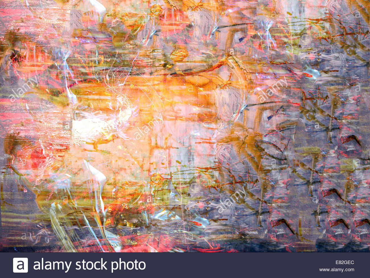 Nice large scale image of a original oil pastel painting on canvas stock image