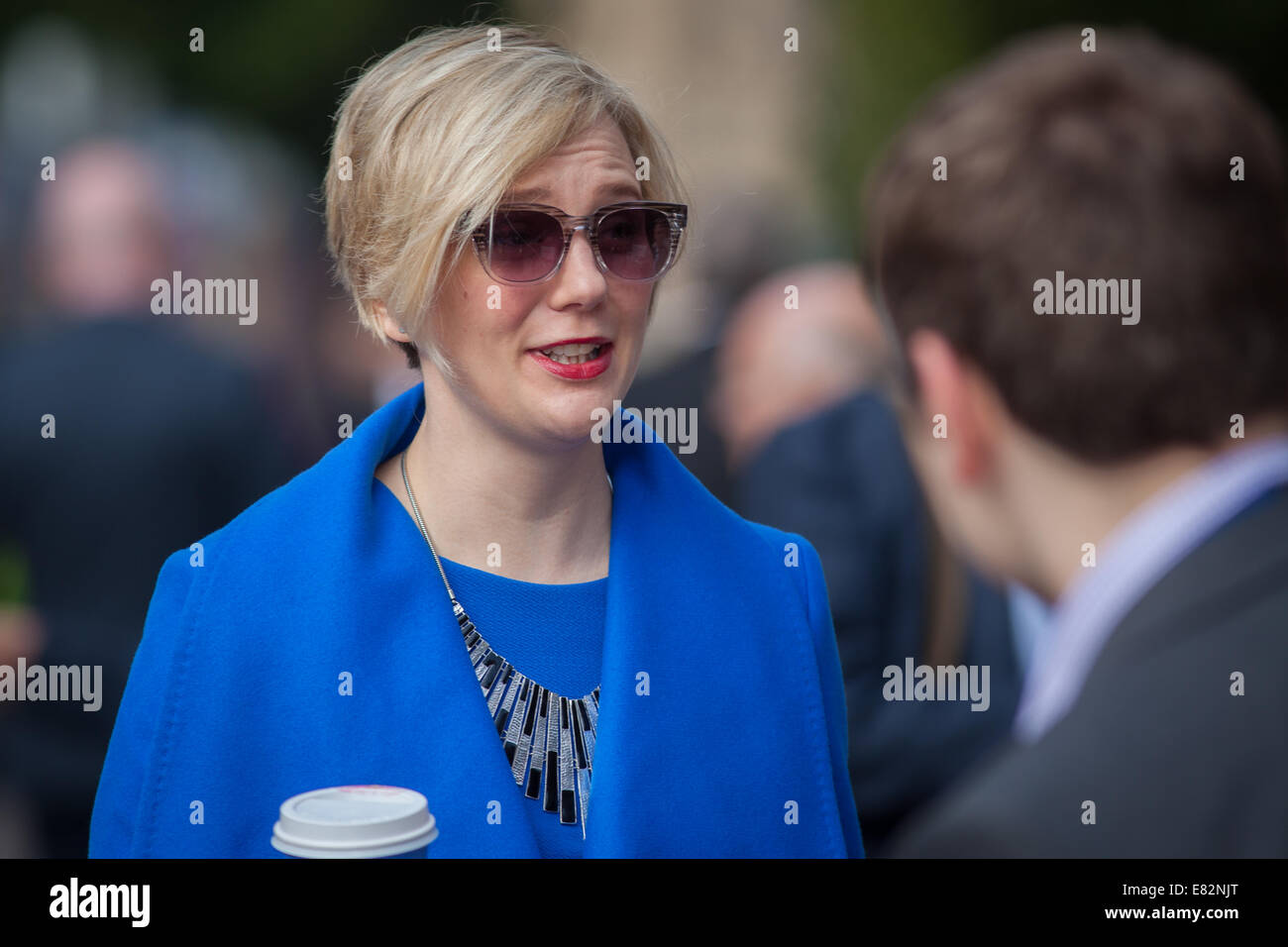 Stella Creasey at the Labour Party conference at Manchester - Stock Image