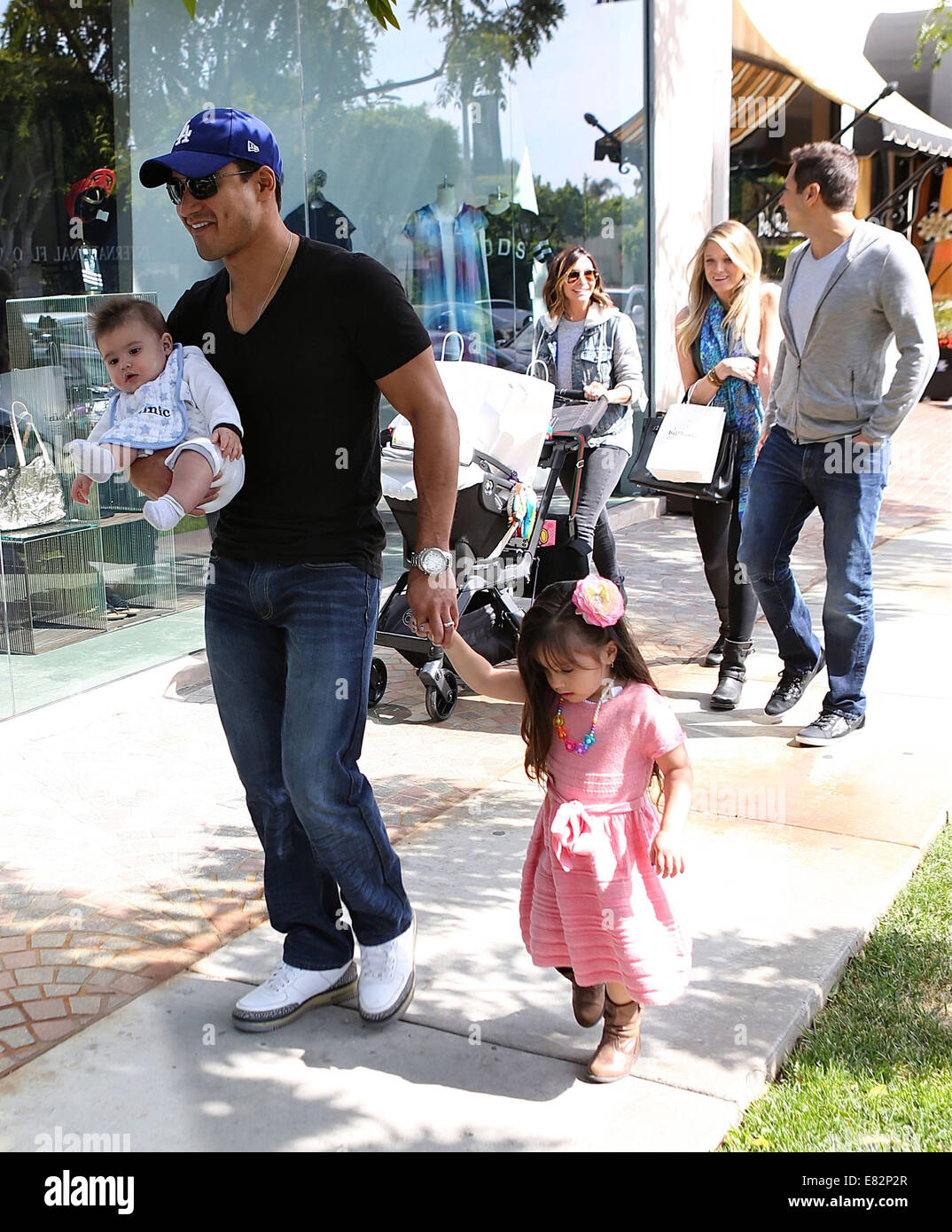 Mario Lopez With His Wife Courtney Mazza And Family Gia And