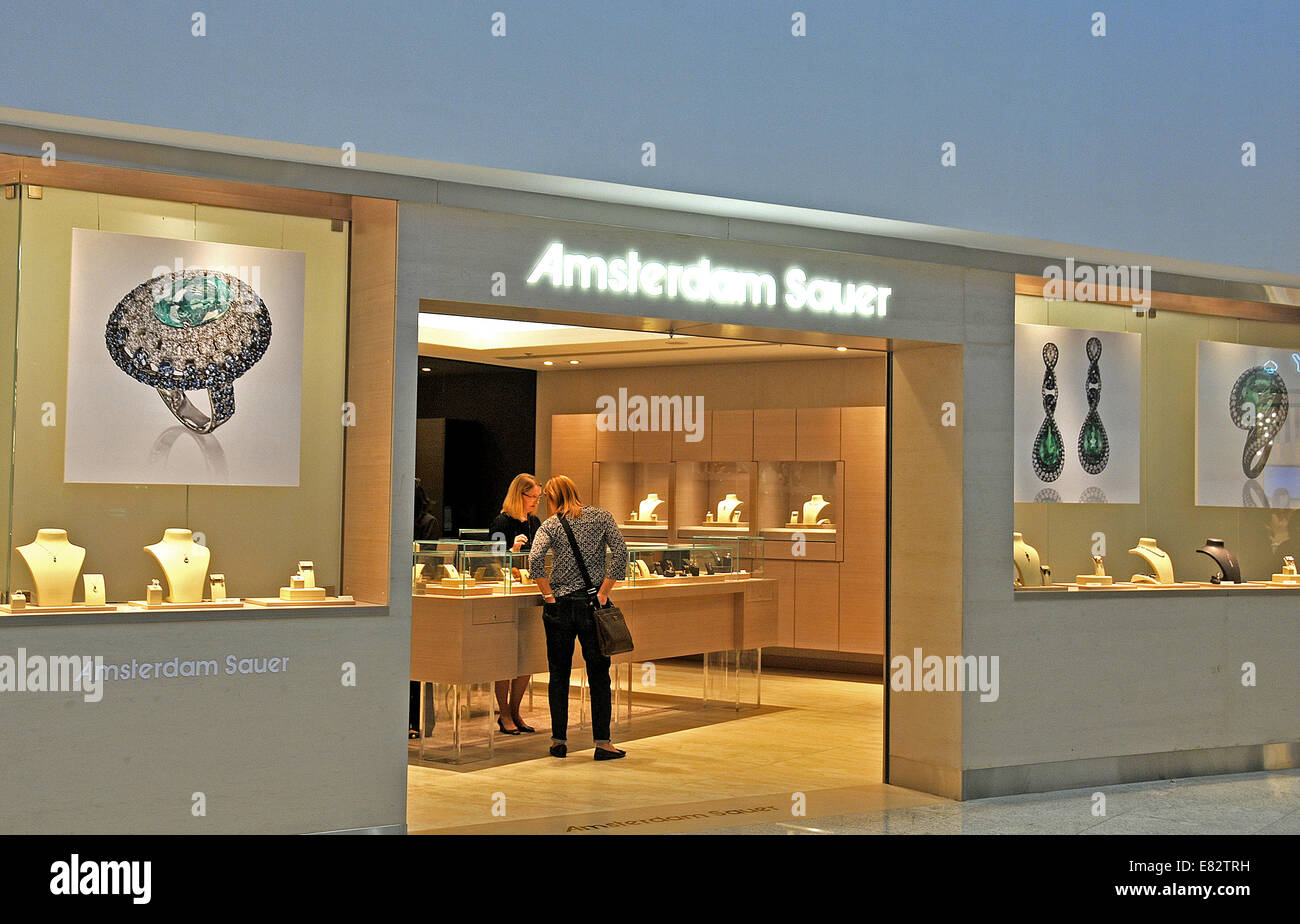 Amsterdam Sauer boutique Guarulhos international airport Sao Paulo Brazil - Stock Image
