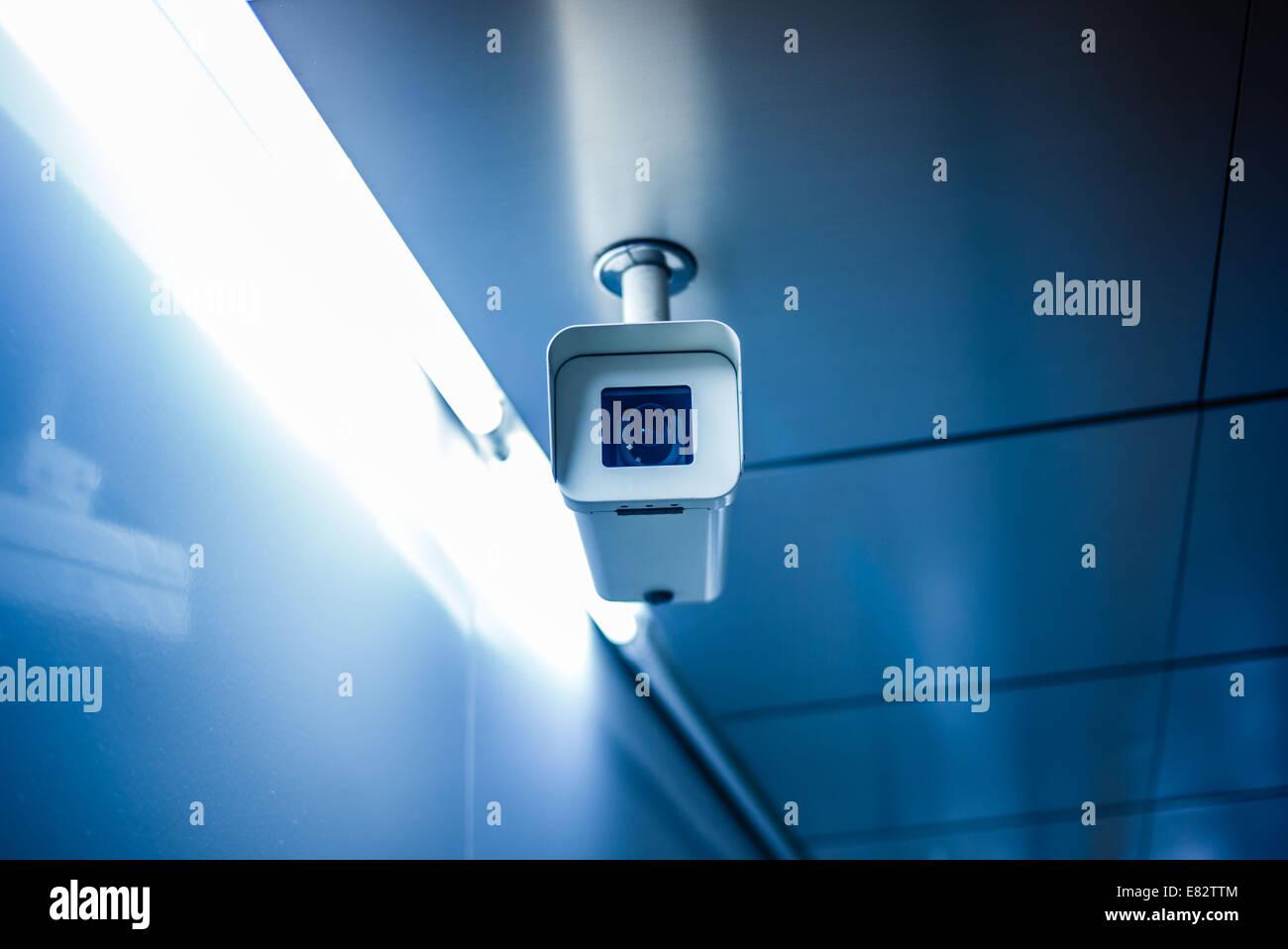Surveillance camera. Stock Photo