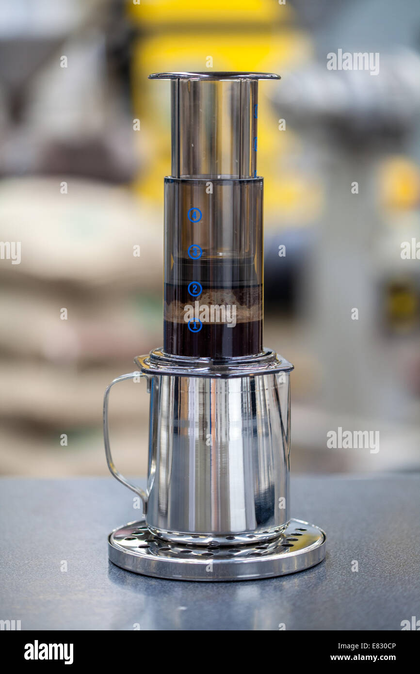 Freshly brewed coffee - Stock Image