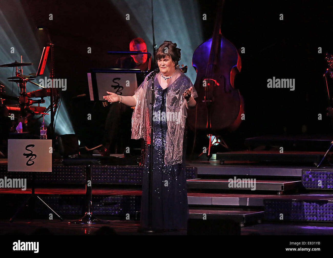 Susan Boyle performing live on stage at Manchester Bridgewater Hall  Featuring: Susan Boyle Where: Manchester, United Stock Photo