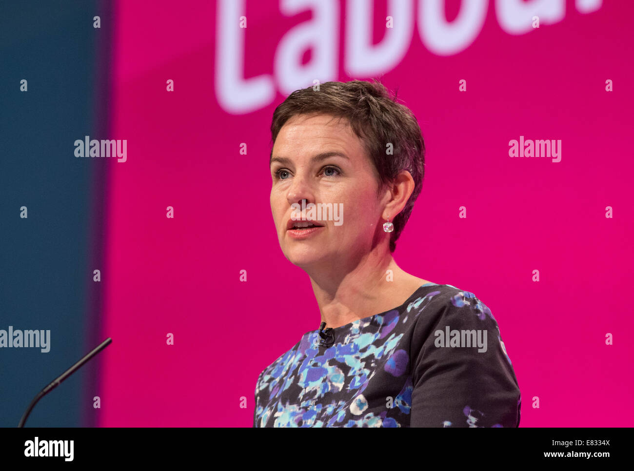 Mary Creagh-Shadow secretary of State for transport-MP for Wakefield - Stock Image