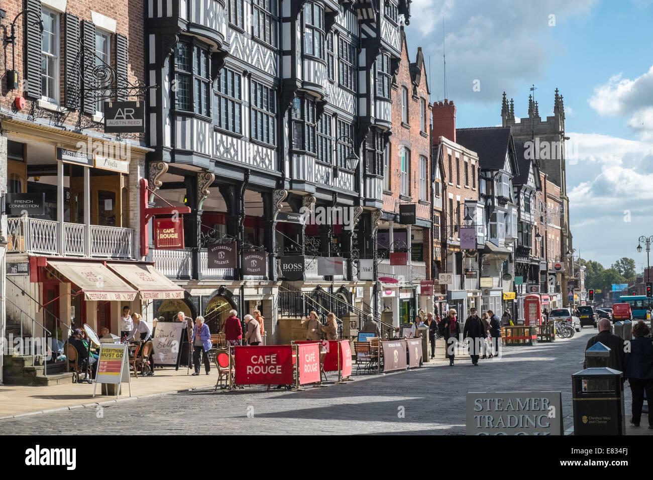Grosvenor Shopping Centre, Bridge Street, Chester, Cheshire, England UK - Stock Image
