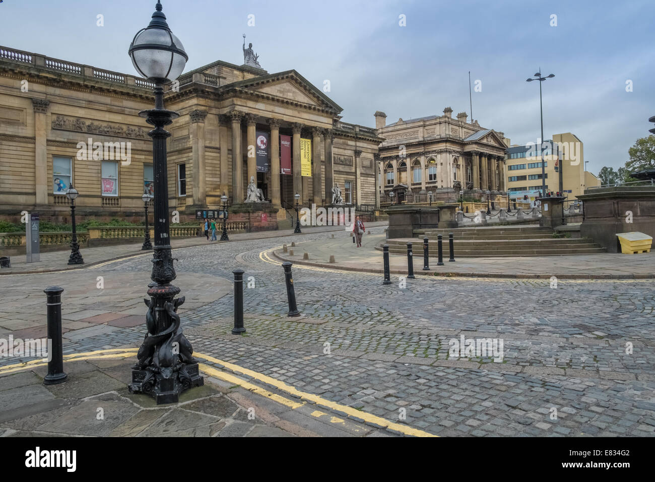 Walker Art Gallery and County Sessions Hall buildings, WIlliam Brown Street, Liverpool, Merseyside UK - Stock Image