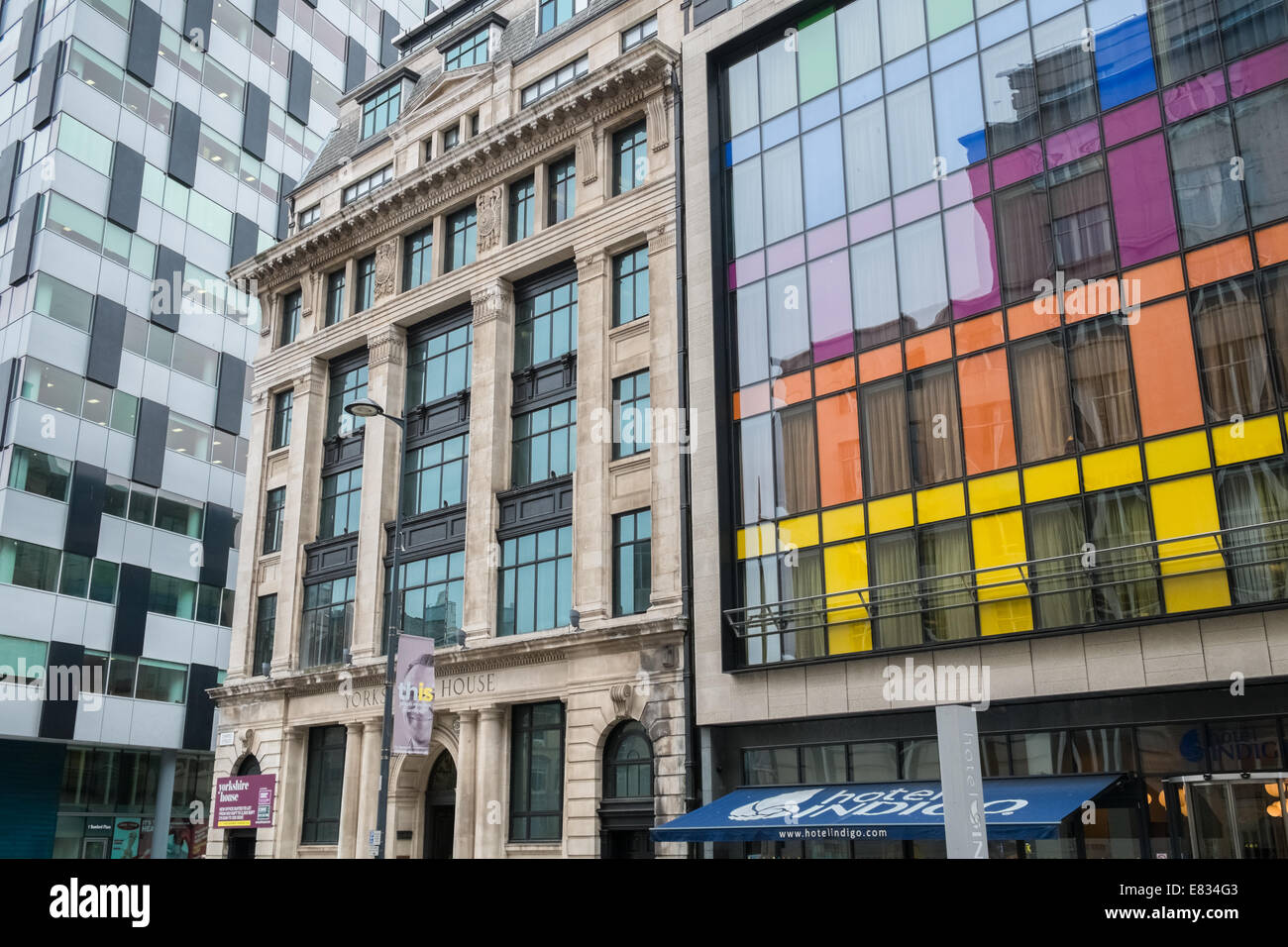 Examples of modern and traditional architecture, Chapel Street, Liverpool, Merseyside, England UK Stock Photo