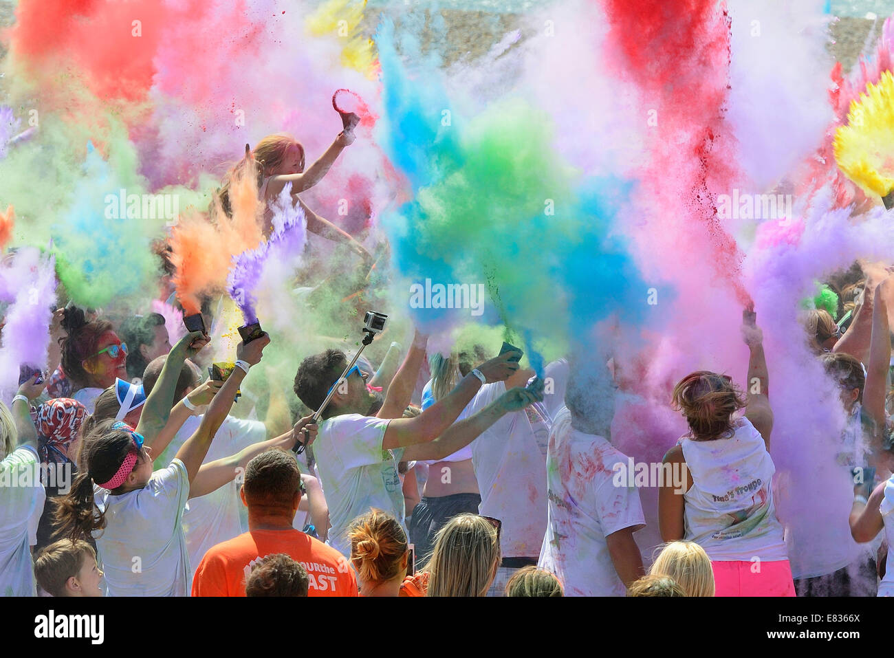 St Michael's Hospice 'Colour the Coast' event on Sunday 3rd August 2014. - Stock Image
