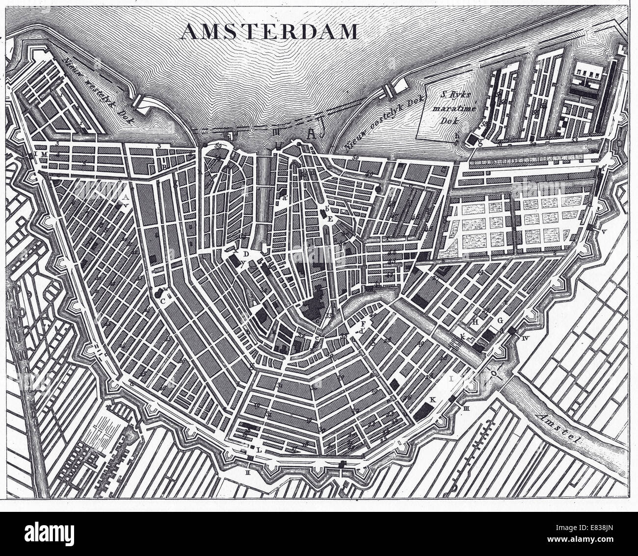 Old Map Of Holland Stock Photos Old Map Of Holland Stock Images - Amsterdam old map