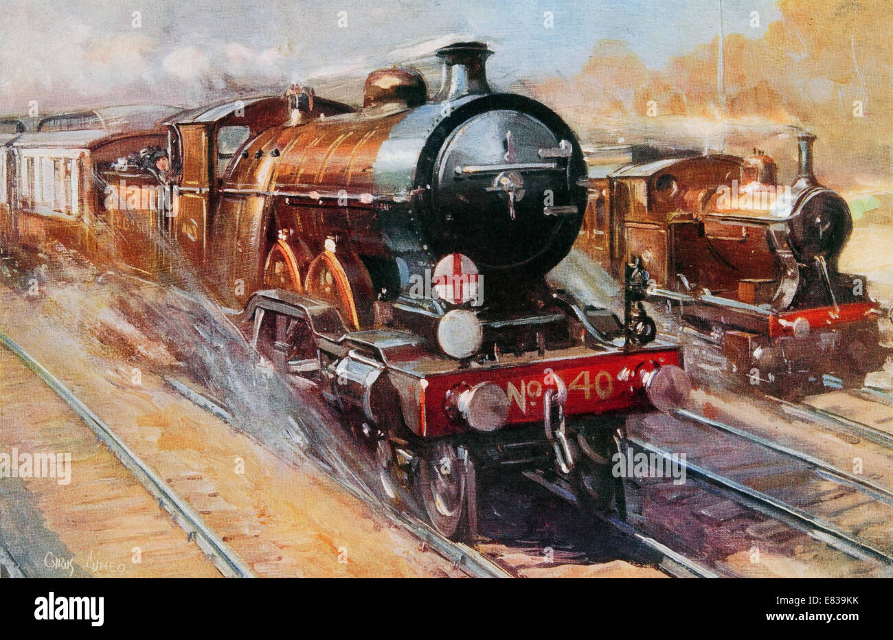 The Southern Belle British Sixty Minute Flyer circa 1920 Stock Photo