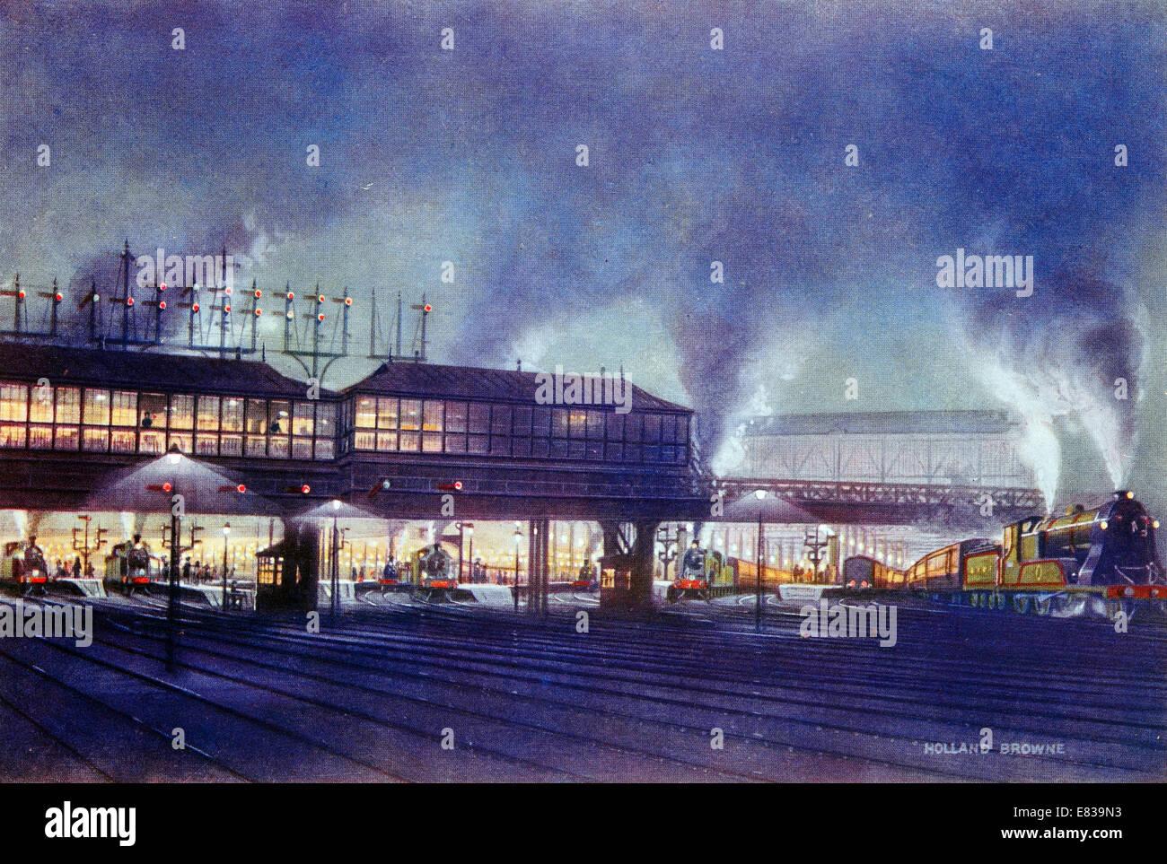Waterloo terminus London South Western Railway circa 1920 Stock Photo