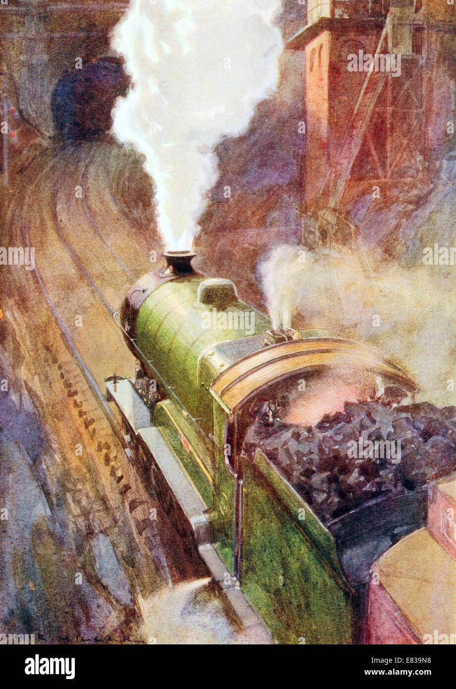 London to Sheffield Great Central Express Sir Sam Fay 4 6 0 Non stop 164 miles circa 1910 Stock Photo