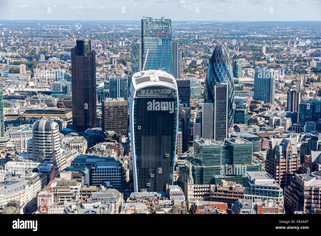 The City of London is the main financial district of London and vies with New York City as the financial capital - Stock Image
