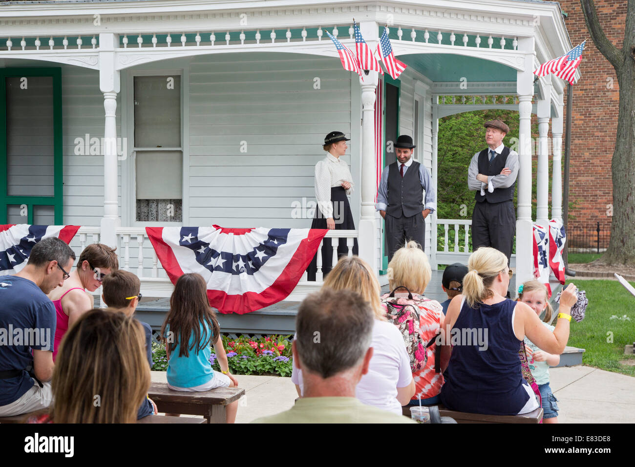 Dearborn, Michigan - The Wright Home at Greenfield Village. - Stock Image
