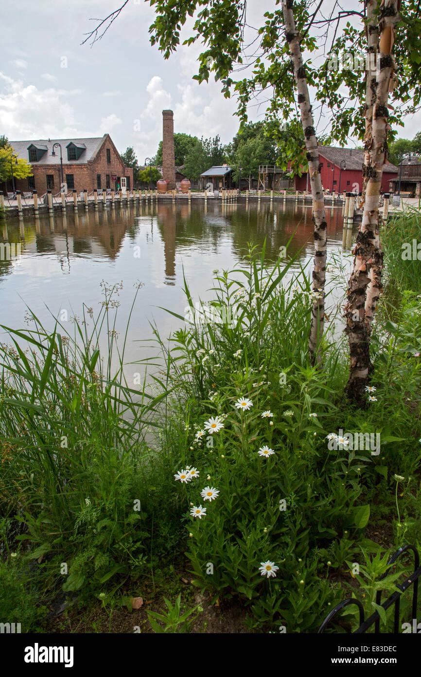 Dearborn, Michigan - Stony Creek Mill Pond at Greenfield Village. - Stock Image