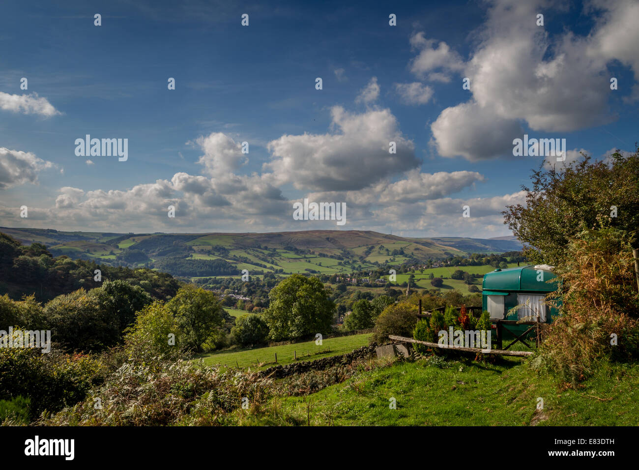 Alternative housing - a view with a room, Derbyshire, UK - Stock Image