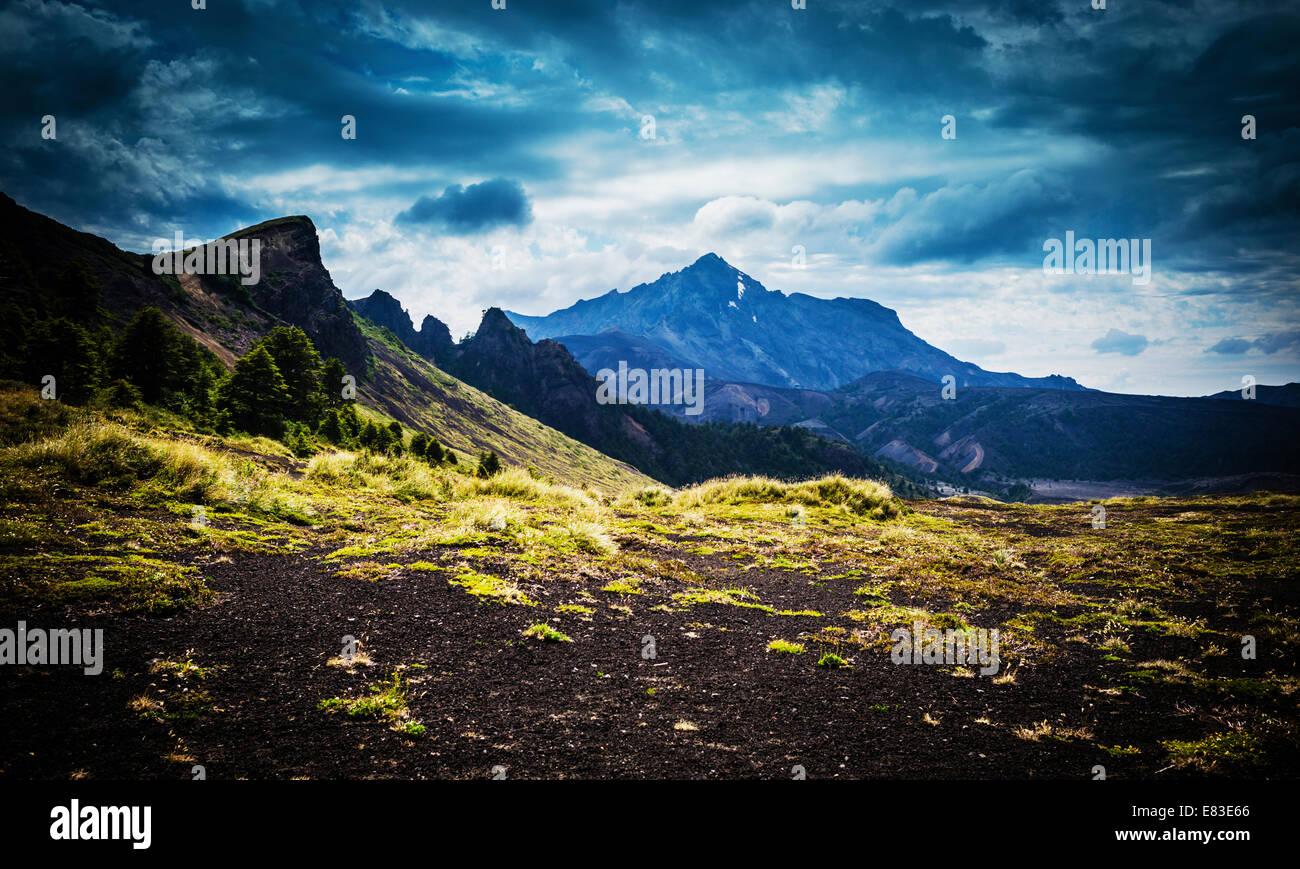 Path Desolation, Osorno, Chile. - Stock Image