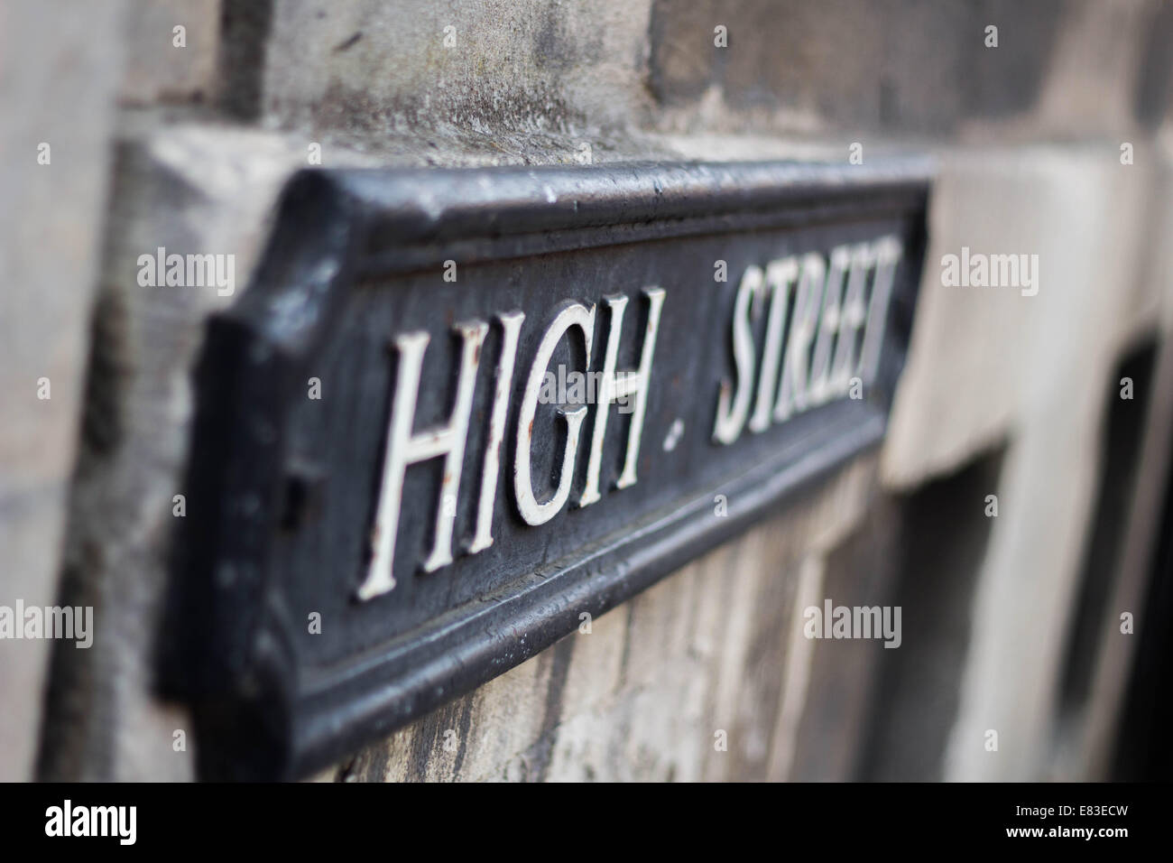 Oxford high street. - Stock Image