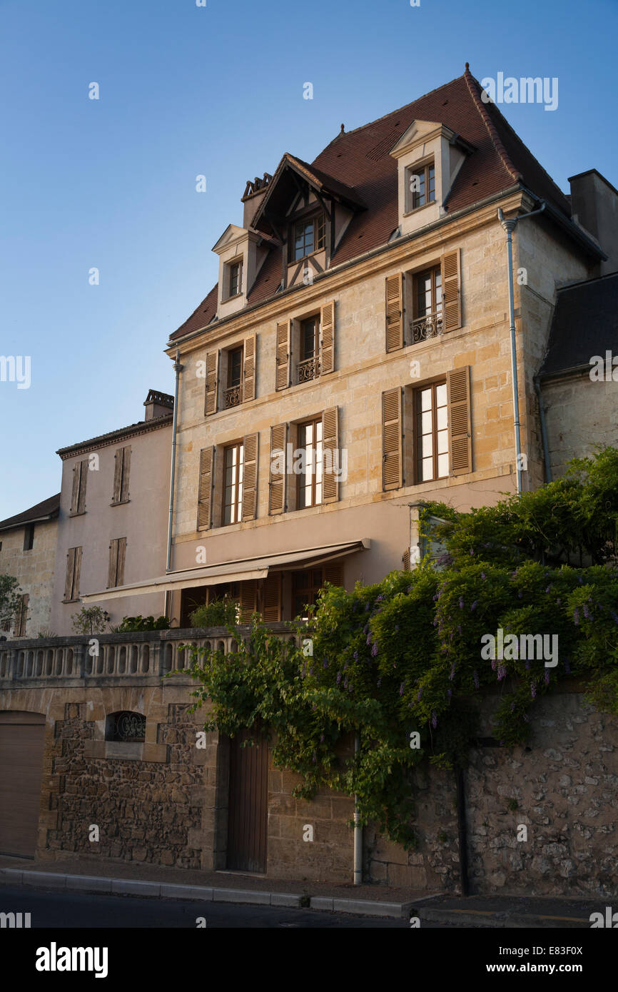 Traditional French house at Bergerac. - Stock Image