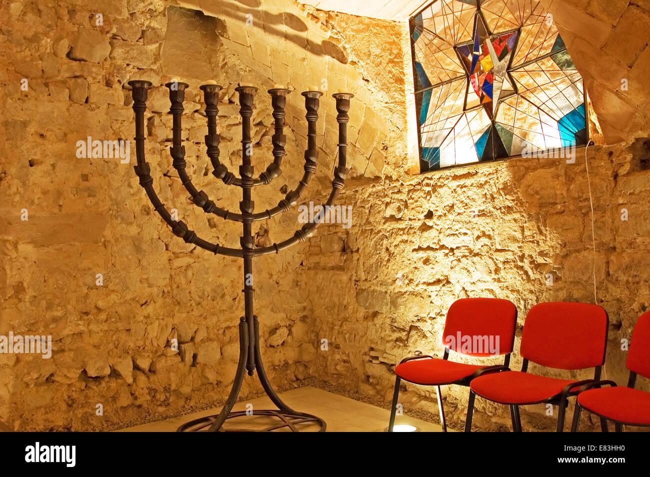 Barcelona old Synagogue - Stock Image