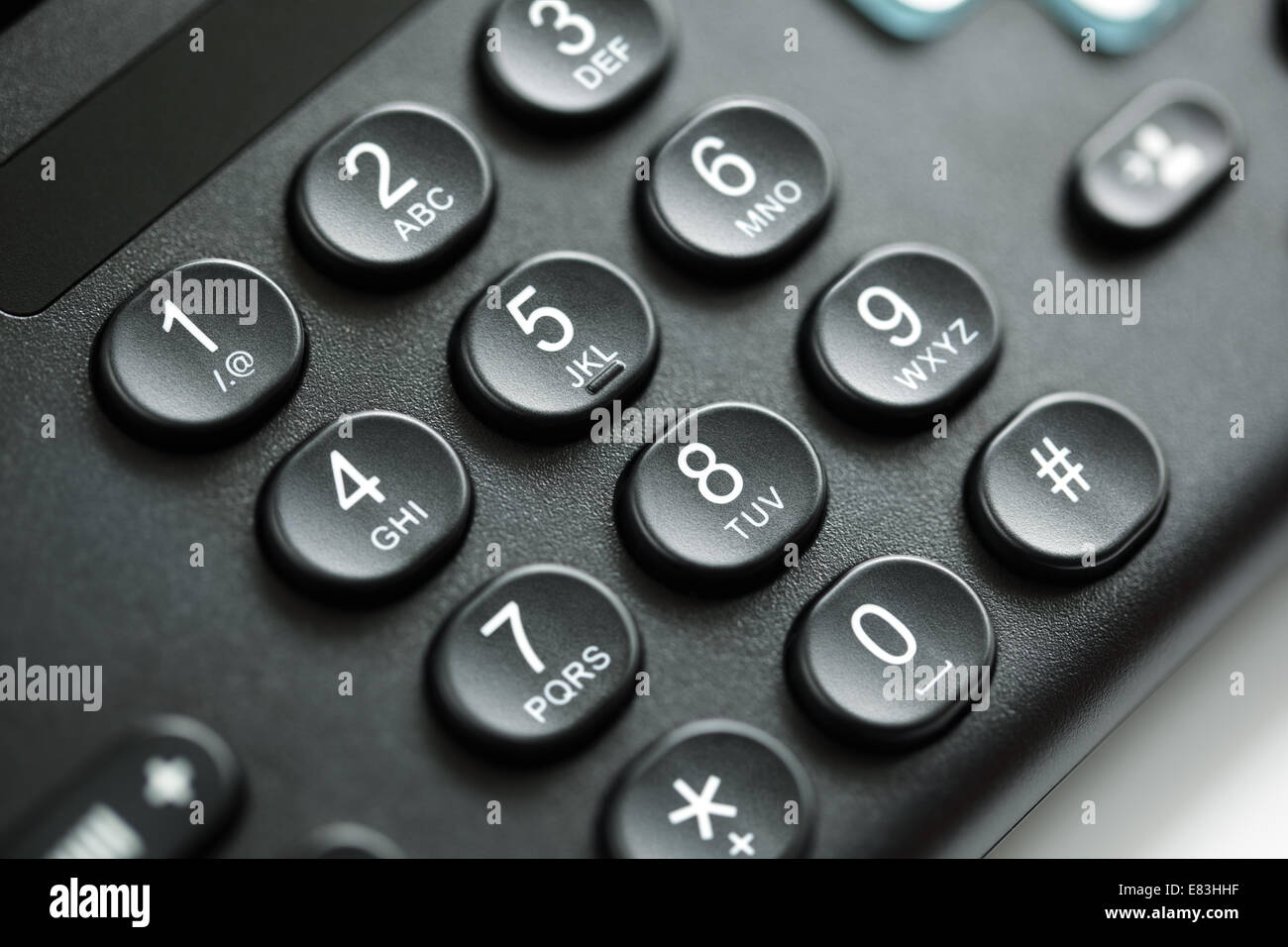 Telephone keypad - Stock Image