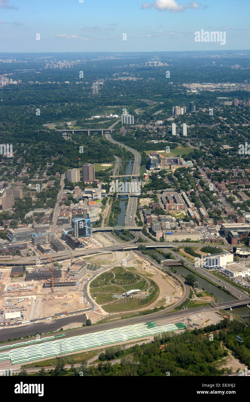 Don Valley pkwy Toronto, Canada. - Stock Image