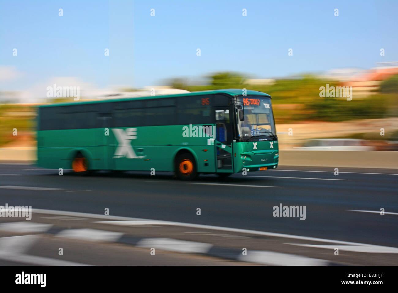 Egged bus, Israeli transport company - Stock Image
