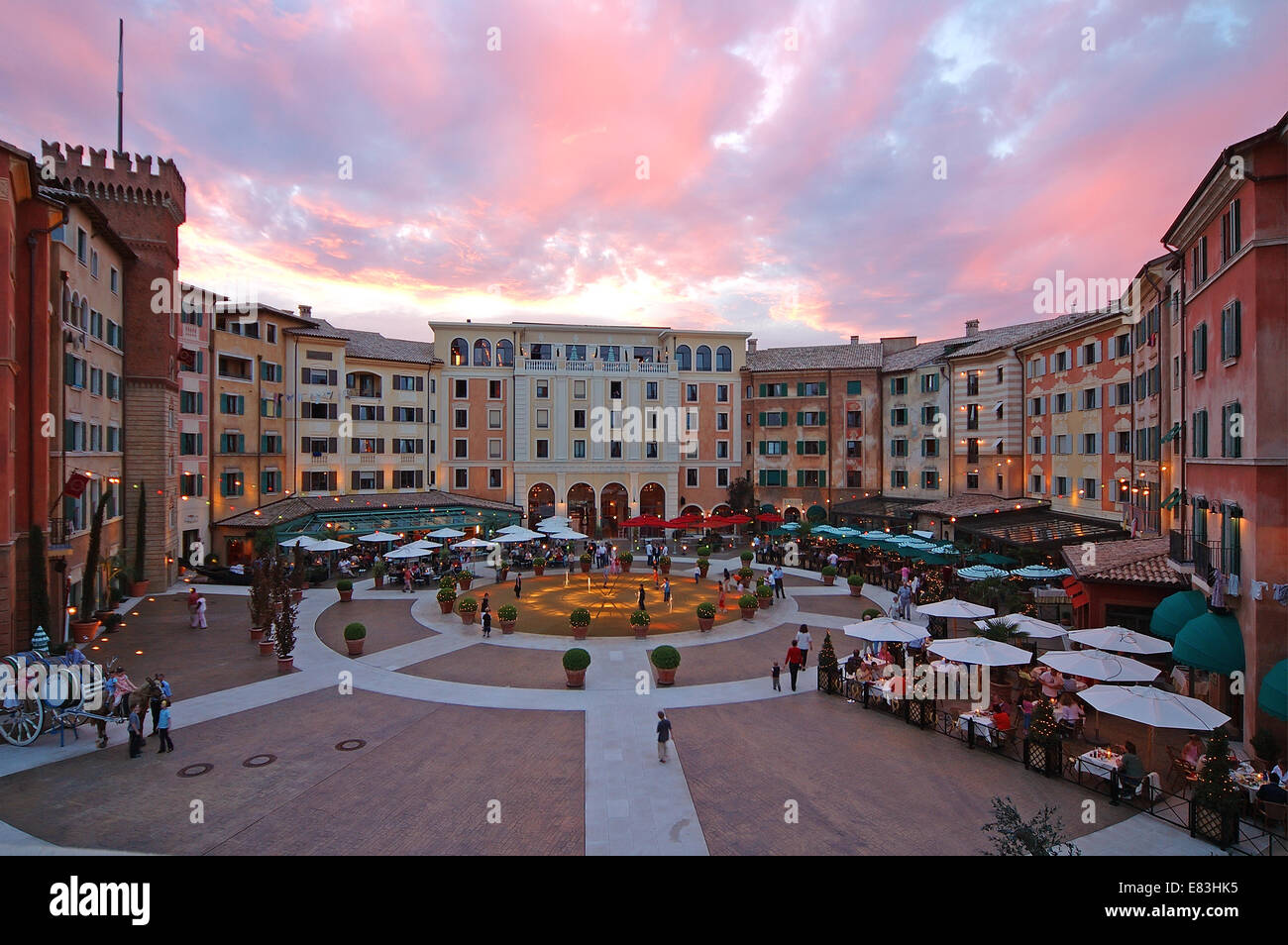 Hotel Colosseo - Stock Image