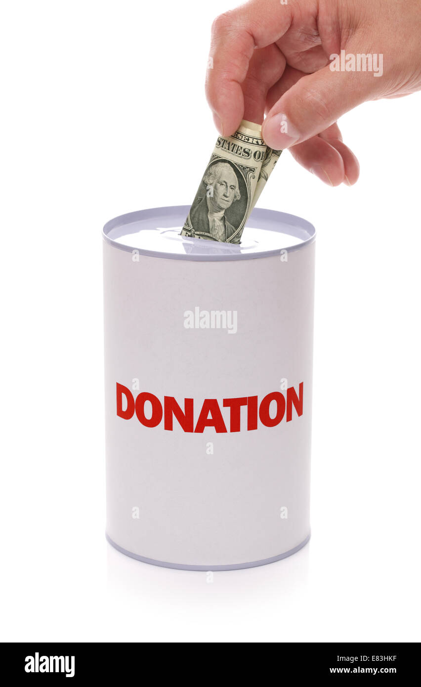 Donation box - Stock Image
