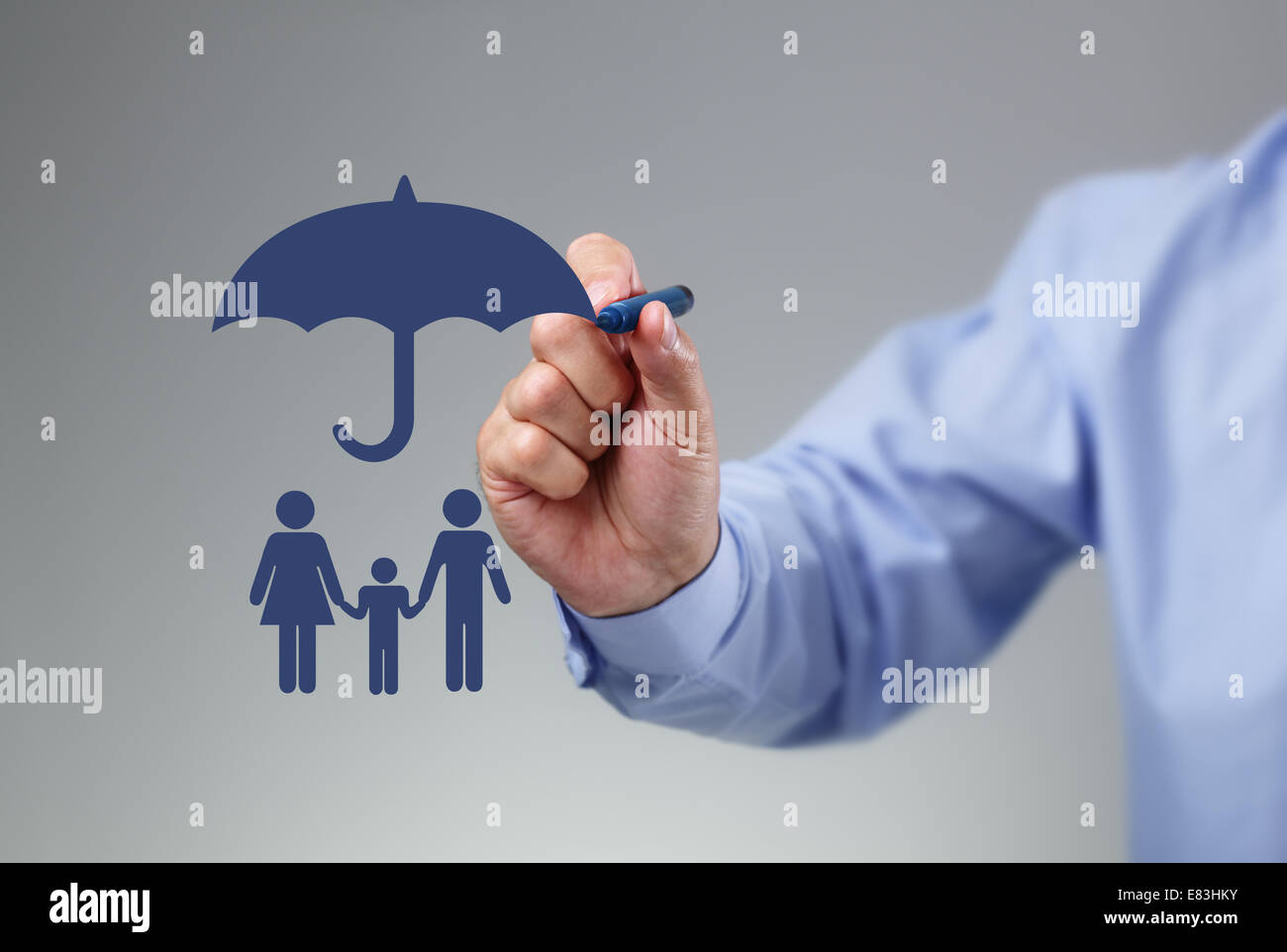 Family protection - Stock Image