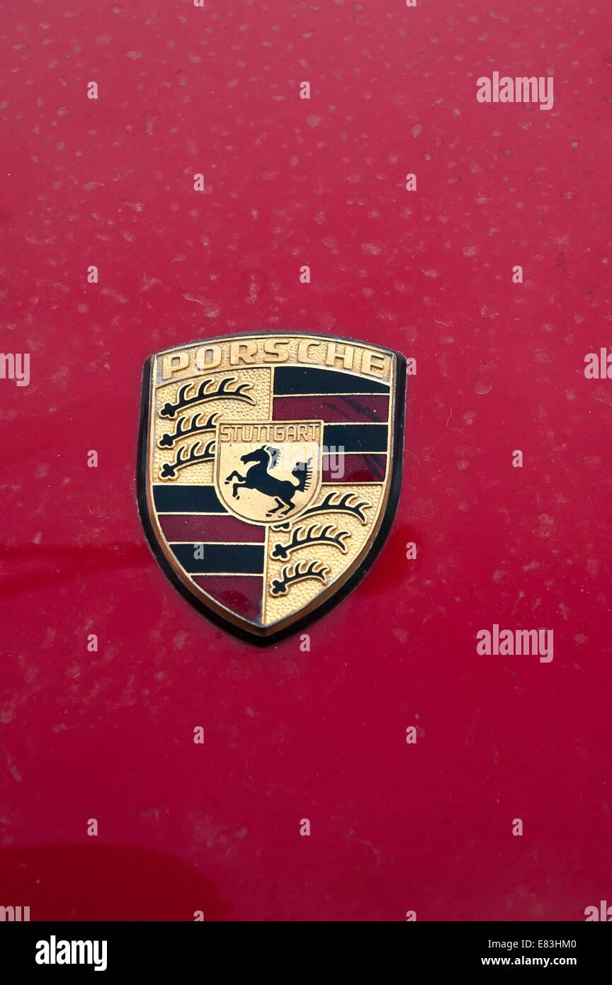 Porsche Emblem - Stock Image