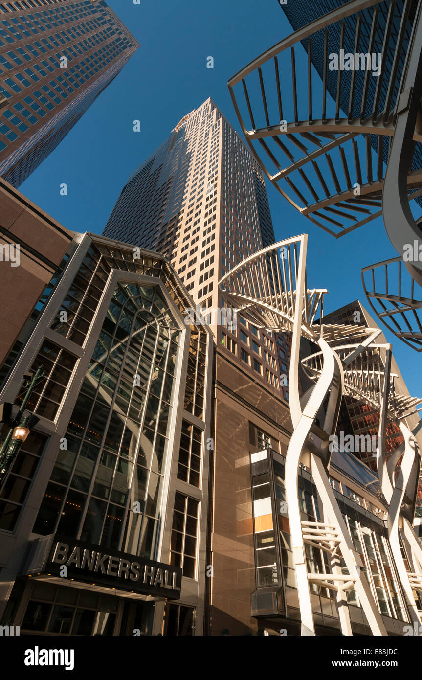 Elk203-6202v Canada, Alberta, Calgary, downtown, Bankers Hall Steel Project - Stock Image