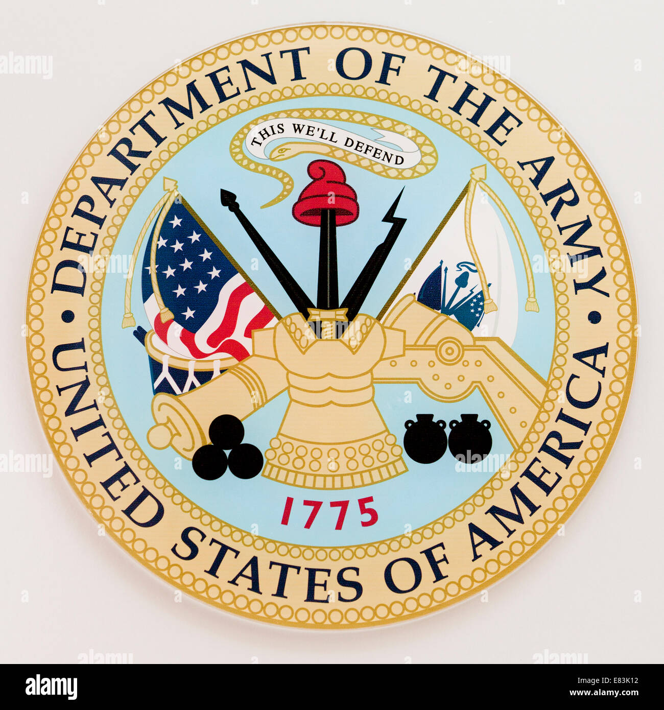 Official seal of the US Army - USA - Stock Image