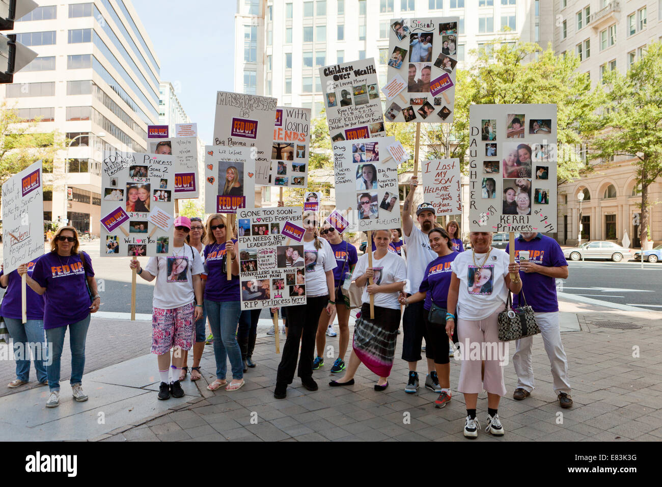 Fed Up! Coalition marching for the end the epidemic of Opioid addiction and overdose deaths - Washington, DC USA - Stock Image
