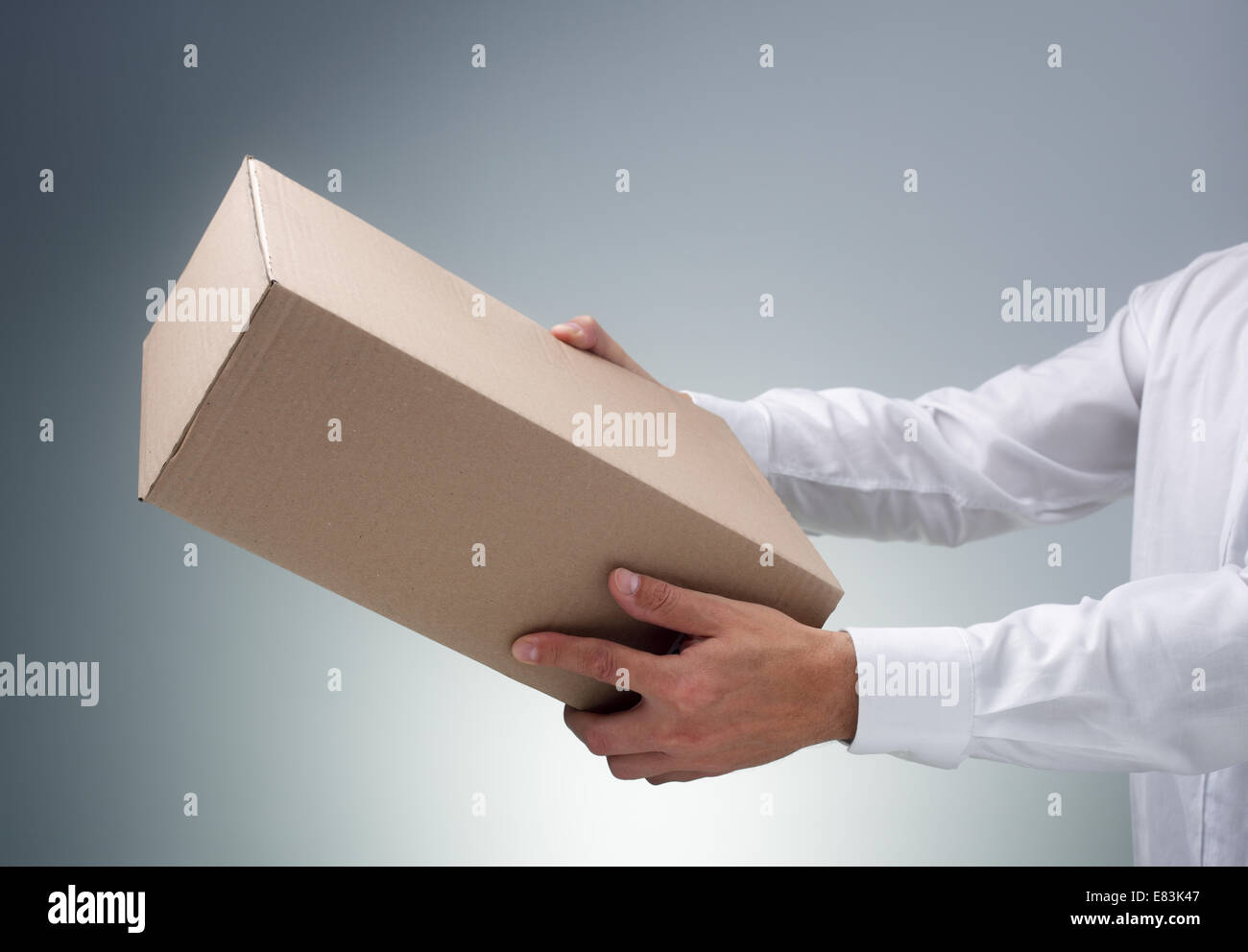 Receiving a package - Stock Image