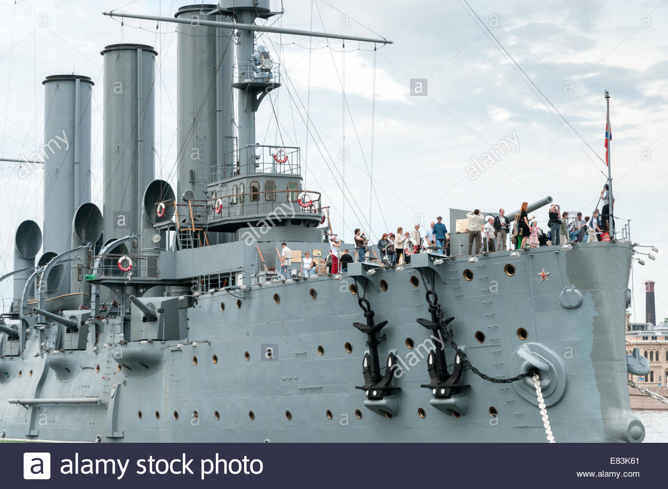 The Cruiser Aurora, St Petersburg, Russia - Stock Image