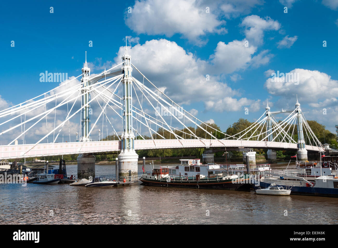 Albert Bridge, London, England, UK - Stock Image