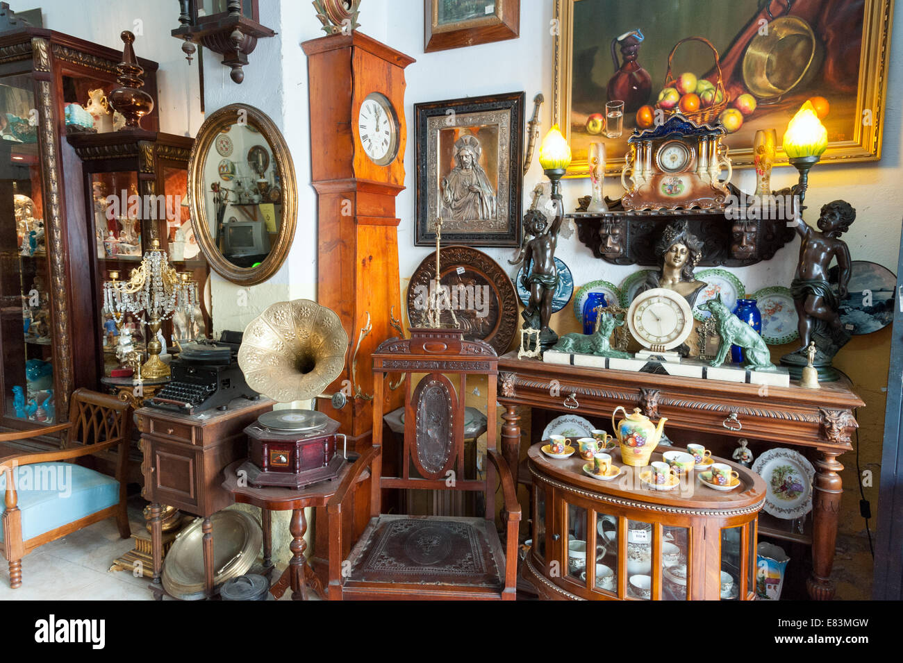 Old Antique Wood Furniture And Household Items In Antiques