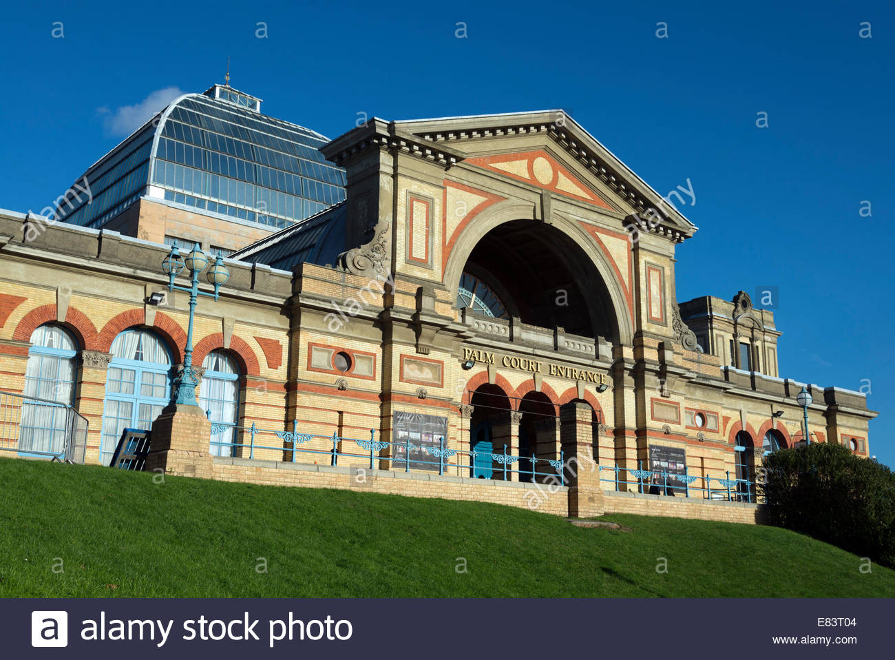 Entrance to Alexandra Palace, London, England, UK - Stock Image